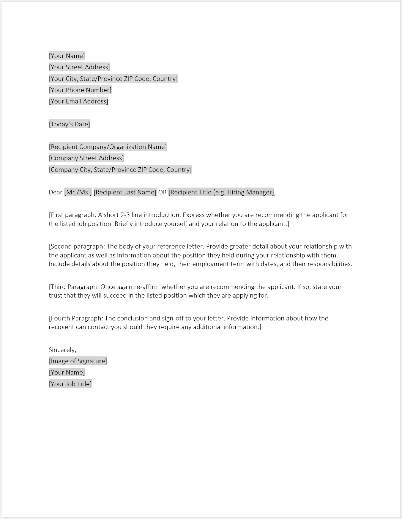 Employment Letter Format In Word from corporatefinanceinstitute.com